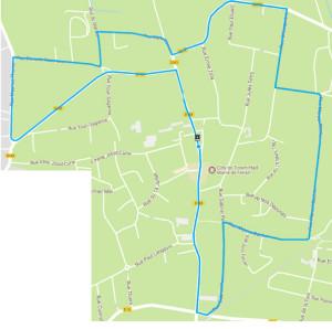 parcours course cycliste de fenain du 25.03.2018 circuit cadet et adulte