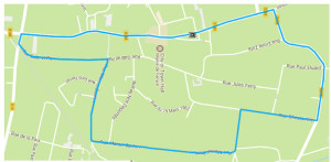 parcours course cycliste de fenain du 25.03.2018 circuit jeune