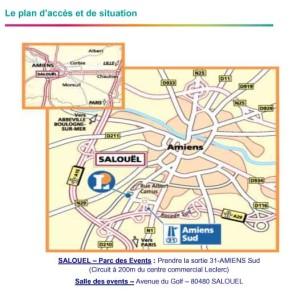 Plan d'accés pour arriver au Parc des Events à Salouel copie