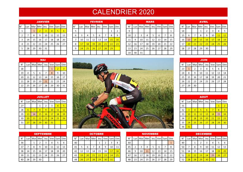 Triathlon Calendrier 2020.Calendrier Personnalise Velodom Velodom Photo
