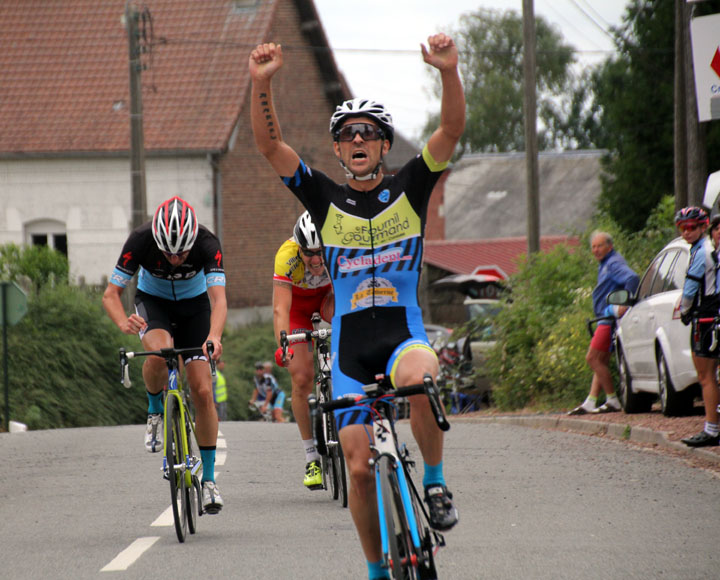 Championnat régional UFOLEP sur route à Beaulencourt ( Sen B Vet B, Vet C et cadets )
